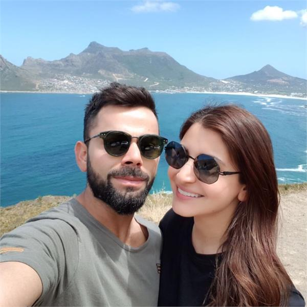 virat kohli and anushka sharma captured first selfie of 2018