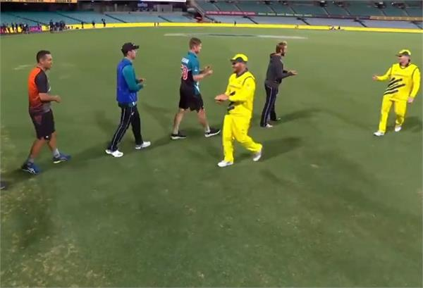 new zealand australian players don  t shake hands over fear of corona virus