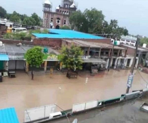 sangrur  rain  canals  roads