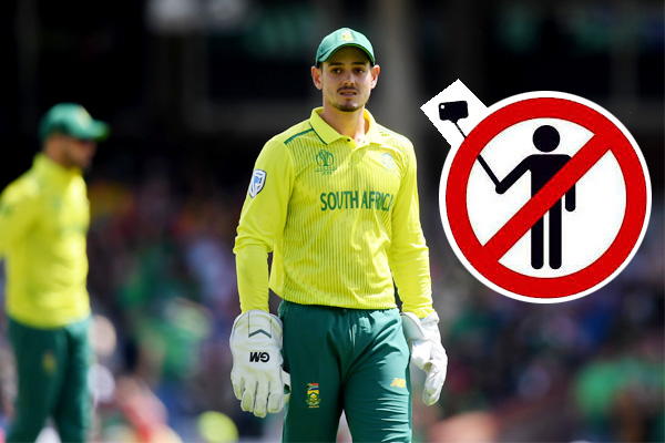 selfie banned with cricketers during south africa series this is the reason