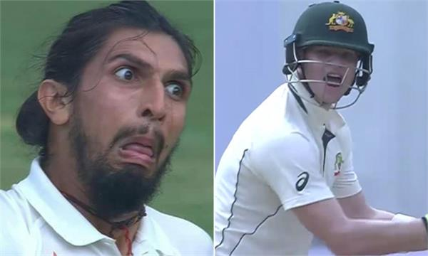 3 years ago ishant gave a strange reaction to smith