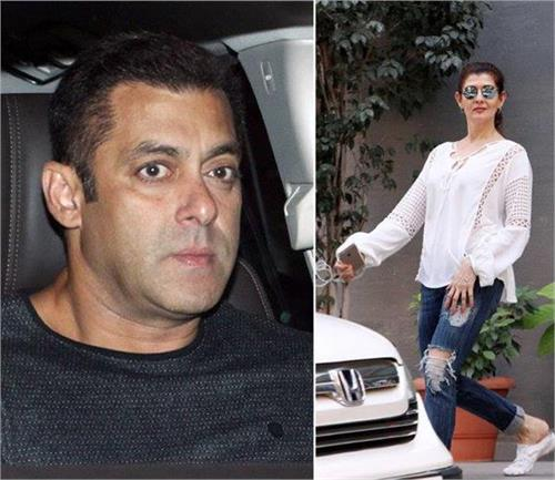 salman arrived with his ex girlfriend
