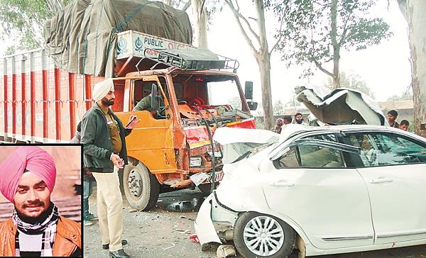 one killed  1 injured in car truck collision