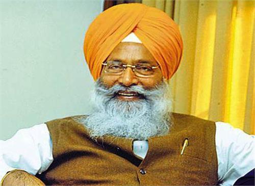 sukhdev singh dhindsa resignation sad leader