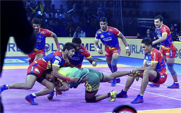 pro kabaddi league  patna defeats up yodha in thrilling contest