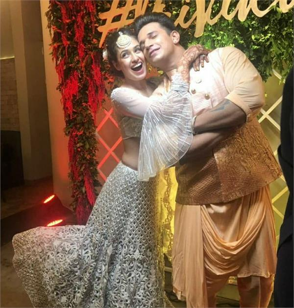 yuvika chaudhary and prince narula sangeet ceremony