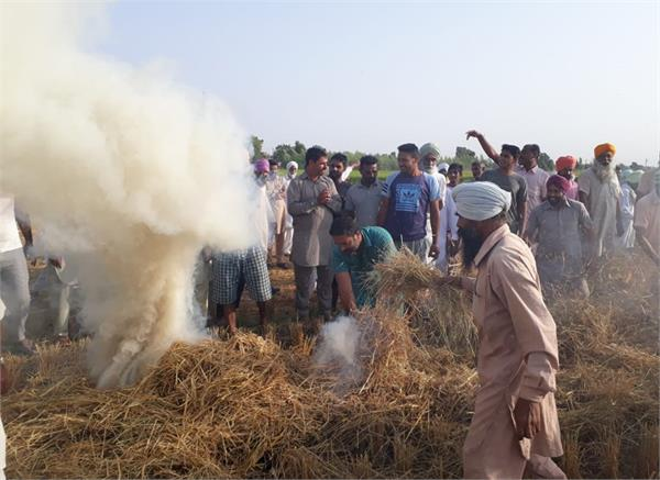 farmer  fire  punjab government