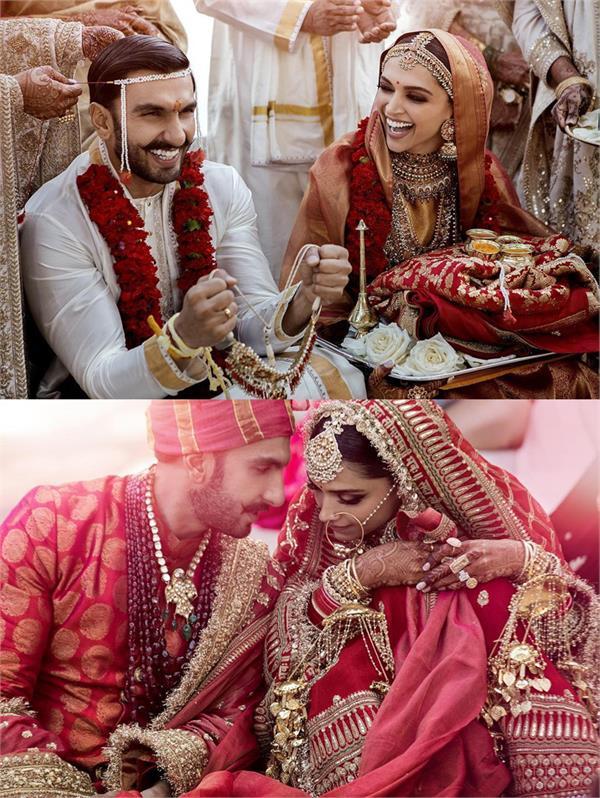 ranveer deepika share pics of their wedding