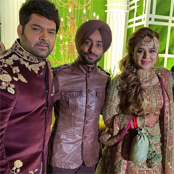 ginni chatrath and kapil sharma amritsar reception