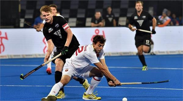 hockey world cup  spain and new zealand play 2 2 draws
