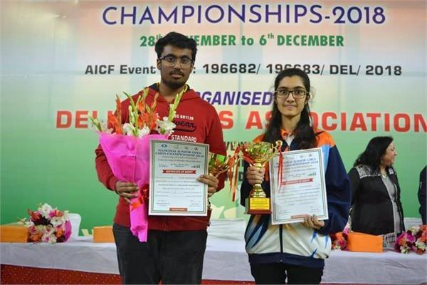 kartik and sakshi national junior champion
