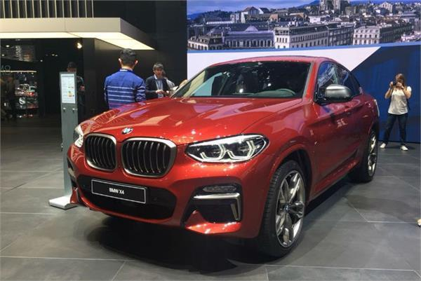 bmw shows new x4 at geneva motor show