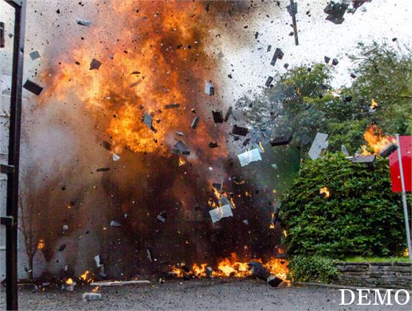 bomb goes off at camp office of indian embassy