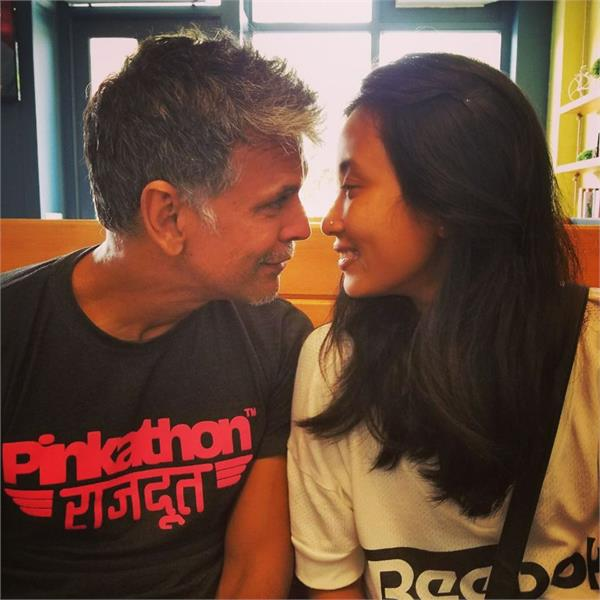 milind soman gf shared a romantic pic