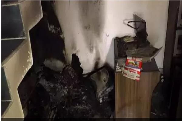 cm khattar house in fire