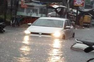 rain knee deep water