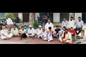 protest in village