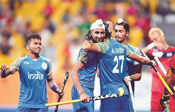 hockey  india korea beat 5 3 in a tough fight