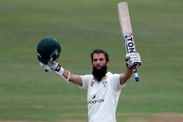 moeen drew a double century in county after missing the team  s place
