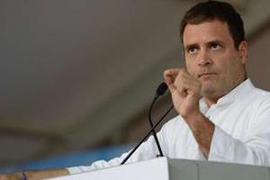 rahul gandhi holds roadshow in mp  attacks modi govt