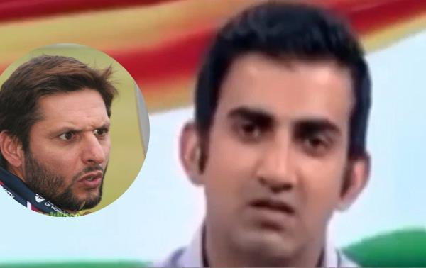 incredible debate between afridi and gambhir about kashmir in ind pak match