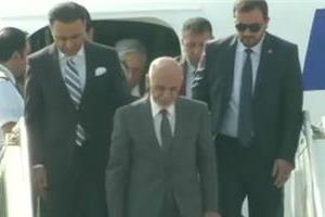 afghanistan president arrives at delhi