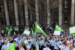 adelaide angry prison guards march on parliament
