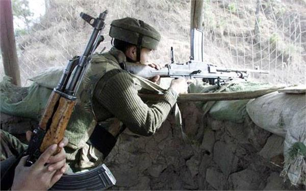 pakistan fires in keran sector