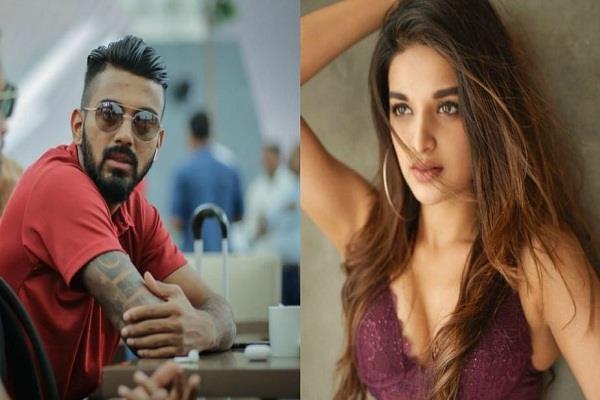 kl rahul  actress nidhi agarwal  affair