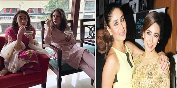 kareena kapoor and karisma kapoor enjoying kheer on diwali video goes viral