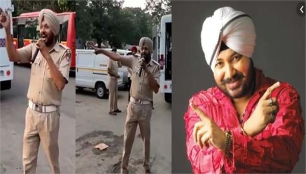 chandigarh policemen aware about traffic rules with bolo tara ra ra