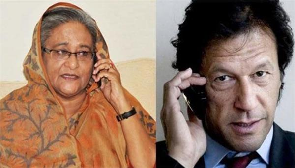 hasina gets call from pakistan pm ahead of her india tour