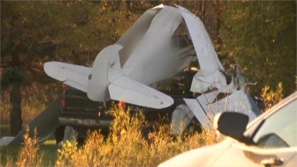 ship collides with pickup van during landing  pilot dies
