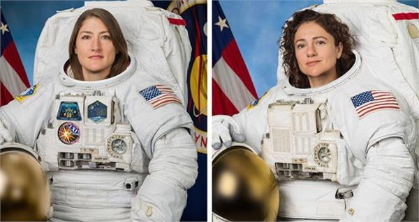 space history  for the first time only women  s spacewalk