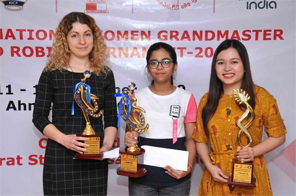 aicf women s grand chess winner made by mridul dehkar of india