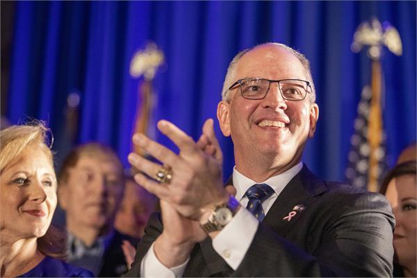 louisiana governor re elected in louisiana  shocked trump