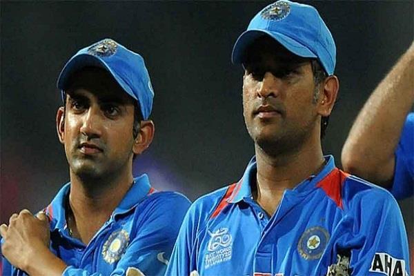 gautam gambhir mahendra singh dhoni world cup 2011
