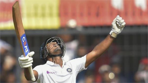 mayank agarwal 2nd double century in indore test against of bangladesh