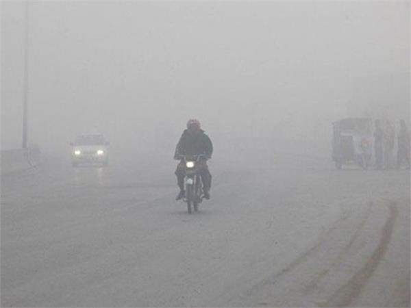 pathankot rain dense fog