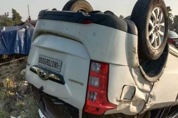 uttarakhand bjp mp tirath singh rawat car accident injured