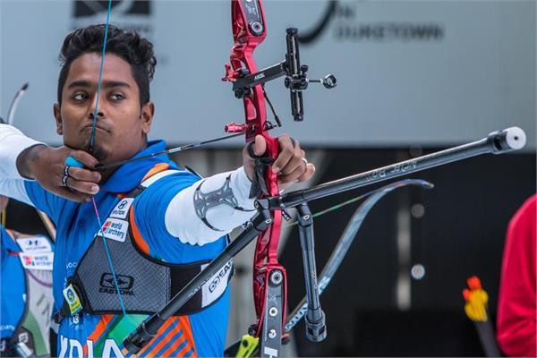 atanu das wins men s recurve bronze in asian archery c ships