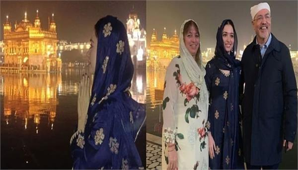 tamannaah bhatia visits golden temple with family