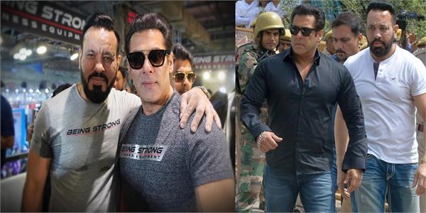salman khan shares pic with bodyguard shera