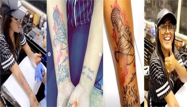 afsana khan made a tattoo of her father mother and brother