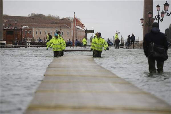 venice flooded again 3 days after near record high tide