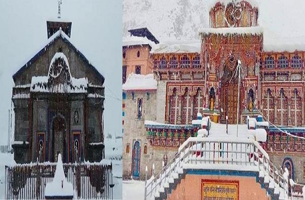 snowfall in badrinath and kedarnath dham