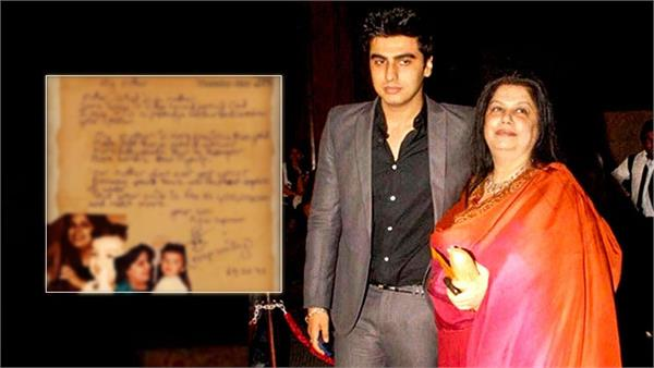 arjun kapoor write letter remembering mother mona kapoor