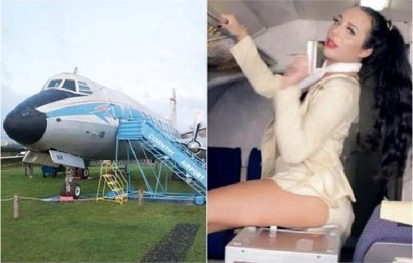 actors entered in plane in britain midland air museum and shoot porn film