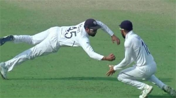 rohit sharma takes one handed stunner catch in 2nd test match vs ban