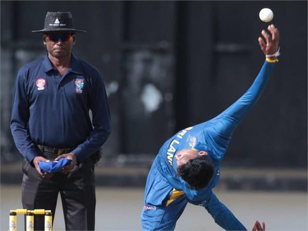 kevin koththiigoda with his strange bowling action